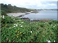 SW8836 : Porthbean Beach by Trevor Rickard