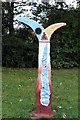 SK4833 : National Cycle Network Milepost in West Park by David Lally