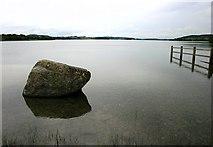 N5368 : Lough Lene boulder by Hugh Chevallier