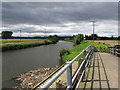 SE5603 : Doncaster - Don Footbridge & View to Newton by Dave Bevis