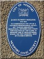 Photo of James Flewitt Mullock blue plaque