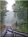 SJ9949 : Churnet Valley Railway at Consall Forge, Staffordshire by Roger  Kidd