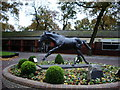 SJ5898 : Haydock Park Racecourse, Statue of Be Friendly by Alexander P Kapp