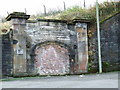 NS2775 : Former Upper Greenock railway station entrance by Thomas Nugent