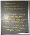 SH3334 : A tablet marking the refurbishment of the Polish church in 2003 by Eric Jones
