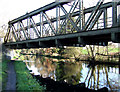 SO8899 : Meccano Bridge and the Staffordshire and Worcestershire Canal by Roger  Kidd