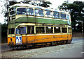 NS6362 : Glasgow tram 1176 at Auchenshuggle terminus. by Chris Coleman