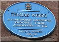 Photo of Thomas Webbe blue plaque