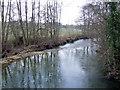 SO3358 : River Arrow at Hunton Bridge by Jonathan Billinger