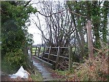 SJ3806 : Footbridge at Malehurst by Stephen Craven