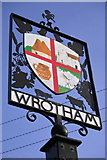 TQ6159 : Wrotham Village Sign by dennis smith