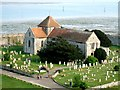 SU6204 : St. Mary's, Portchester in its churchyard by Rob Farrow