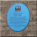 TL4557 : Blue plaque for Henry Fawcett, Brookside by Keith Edkins