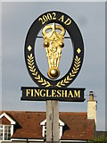 TR3353 : Finglesham village sign by Nick Smith