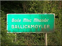 S6681 : Entering Ballickmoyler from the West by Tom LaPorte