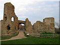 TQ6404 : Gatehouse, Pevensey Castle by Simon Carey