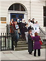 "TQ2981 : Student demonstration ""Don't deport Guy Nuke"" by David Hawgood"