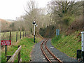 SN6878 : The view eastwards from Aberffrwd level crossing, Vale of Rheidol Railway by John Lucas