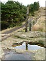 NZ5503 : Boulder, Garfit Gap by Mick Garratt