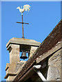 SX9077 : Luton (Devon) Church weather vane and bell by paul dickson