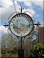 TG2227 : Tuttington village sign by Evelyn Simak