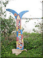 TQ4580 : Sustrans milepost, Tripcock Ness by Stephen Craven