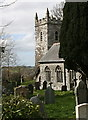 SX0771 : Helland Church and Churchyard by Tony Atkin