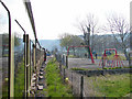 SN5980 : Approaching Llanbadarn level crossing by John Lucas