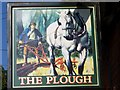 SU4092 : Sign for the Plough, West Hanney by Maigheach-gheal