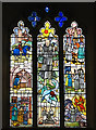 TG0704 : St Peter's church - modern stained glass by Evelyn Simak