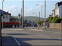 SS9083 : Street corner, Sarn, Ogmore Valley by Dylan Moore