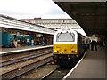 SJ4912 : Wrexham and Shropshire Railway train at Shrewsbury by John Lucas