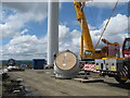 SD8218 : Turbine Tower No 11 construction site by Paul Anderson