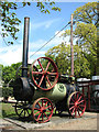 TG5012 : Caister Castle Car Museum - steam engine by Evelyn Simak