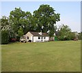 TL6355 : Cricket pavilion by Hugh Venables