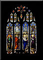 TG1927 : St Michael's church - east window by Evelyn Simak