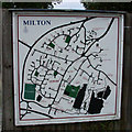 TL4762 : Milton Village map by Keith Edkins