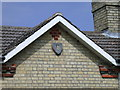TL4041 : North Hall Farm Cottages - detail by Keith Edkins