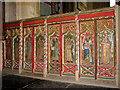 TF7343 : The church of All Saints - rood screen dado by Evelyn Simak