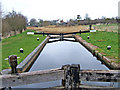 SO8660 : Droitwich Barge Canal Lock 2 looking north by P L Chadwick