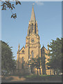 TQ3975 : St Margaret's church - spire. by Stephen Craven