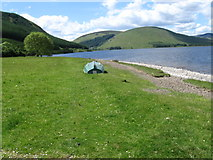 NT2522 : Southern Upland Way by St Mary's Loch at Bowerhope by Chris Wimbush