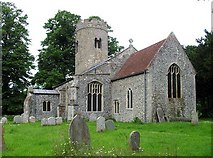 TM1591 : St Michael, Aslacton, Norfolk by John Salmon
