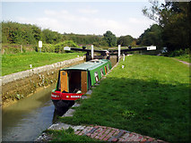 SU3067 : Ascending Froxfield Bottom Lock No 70, Kennet and Avon Canal by Dr Neil Clifton