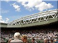 TQ2472 : The new roof to Centre Court Wimbledon by Steve  Fareham