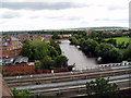 SJ4912 : Railway bridge over the River Severn, Shrewsbury by Dr Neil Clifton