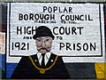 TQ3780 : George Lansbury on Poplar rates rebellion mural : Week 25