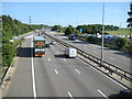 TL0328 : M1 Motorway at Toddington Services by Nigel Cox