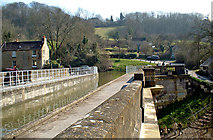 ST8059 : Kennet & Avon Canal on Avoncliff Aqueduct by P L Chadwick