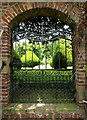 TA1063 : Burton Agnes Hall's Walled Garden Gate : Week 28